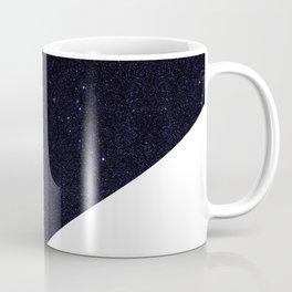 Modern Half Cut Starry Night and White Coffee Mug
