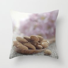 almond kernels Throw Pillow