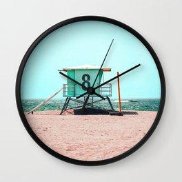 California Lifeguard Tower Wall Clock