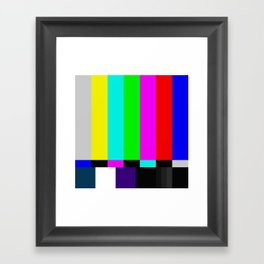 Video Bars Framed Art Print