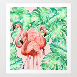 Flamingo Ivelin Art Print