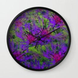 Cornflower Jungle Wall Clock