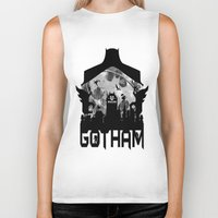 gotham Biker Tanks featuring Gotham by Vitalitee