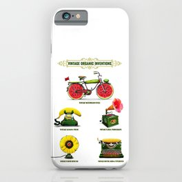 ORGANIC INVENTIONS SERIES: Vintage Organic Inventions iPhone Case