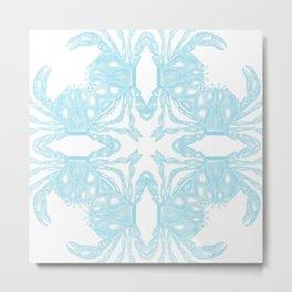 Crab Kaleidoscope Metal Print