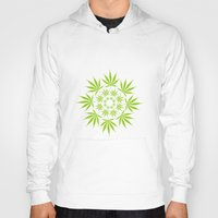 cannabis Hoodies featuring Cannabis Leaf Circle (White) by Thisisnotme