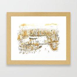 Marina Bay with Coffee Framed Art Print