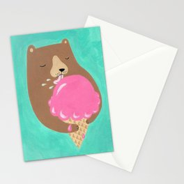 We all dream of ice cream Stationery Cards