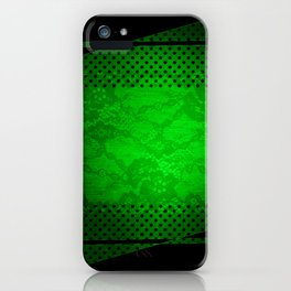 Colorfull Metal & Lace Look a Like images iPhone Case
