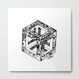 Monster cube Metal Print