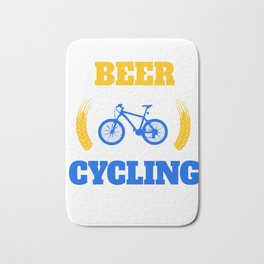 Beer Drinker Cycling Bicycle Cylist Bicycling BMX Bikers Exercise Workout Pedal Gift Bath Mat