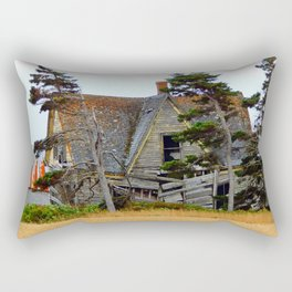 Abandoned Collapsing Homestead Rectangular Pillow