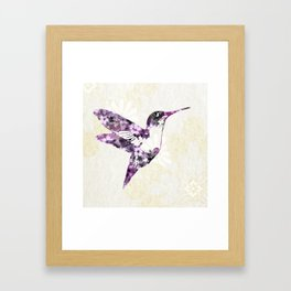 Purple Hummingbird Art Framed Art Print