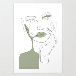 Green Shadow Art Print