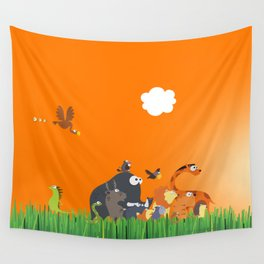 What's going on in the jungle? Kids collection Wall Tapestry