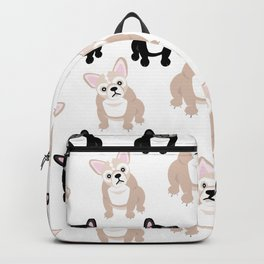 Cute French Bulldog Pattern Backpack
