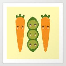 Peas and Carrots Art Print