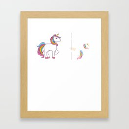 Funny Unicorn Before Coffee After Coffee T-shirts Gift Framed Art Print