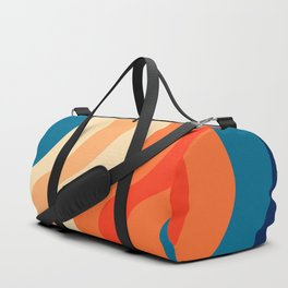 70's and 80's retro colors curving stripes Duffle Bag
