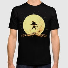 Full Moon Black Mens Fitted Tee LARGE