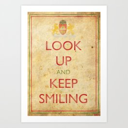 Budapest Look Up and Keep Smiling Art Print
