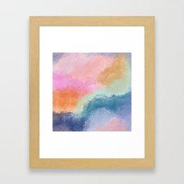 Colorful Fresco Framed Art Print