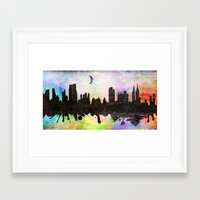 new york Framed Art Prints featuring new York  new York  by mark ashkenazi