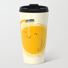 Here comes the sun Metal Travel Mug