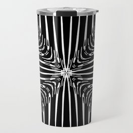 Geometric Black and White Skeleton African-Inspired Pattern Travel Mug
