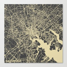 Baltimore map Canvas Print