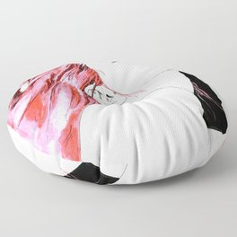 hair in rose Floor Pillow