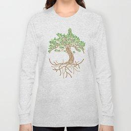 Rope Tree of Life. Rope Dojo 2017 white background Long Sleeve T-shirt