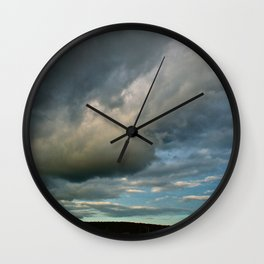 Grace Clouds II Wall Clock