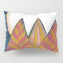 Moon Over Mountains at Dusk Pillow Sham