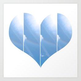 Heart in Carolina Blue Art Print