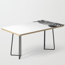 Black and white zebra illustration Coffee Table