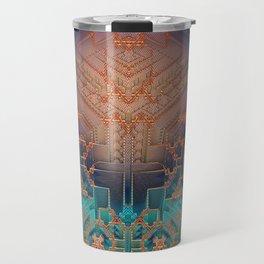 Ayahuasca - Geometric Design - Fractal - Manafold Art Travel Mug
