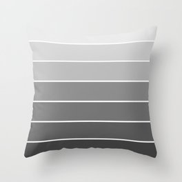 Light Grey-Scale Ombre Throw Pillow