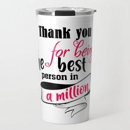 Thank You For Travel Mug