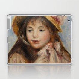 """Auguste Renoir """"Girl with Pink Bonnet (Jeune fille au chapeau rose)"""" Laptop & iPad Skin"""