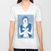 han solo V-neck T-shirts featuring Han Solo by David Penela