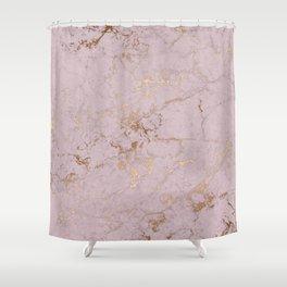 Chic mauve pink gold elegant stylish marble Shower Curtain