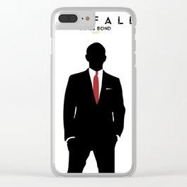 Skyfall, James Bond,minimalist design , alternative poster, Daniel Craig, Javier Bardem, Sam Mende Clear iPhone Case