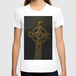 Celtic Cross Yellow Tint T-shirt