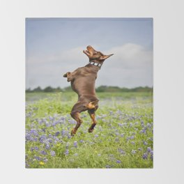 Spring In Texas Throw Blanket