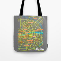 dublin Tote Bags featuring Dublin by mattholleydesign