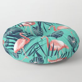 Tropical Flamingo Pattern #7 #tropical #decor #art #society6 Floor Pillow