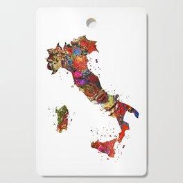 Italy Map Cutting Board