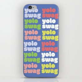 Yolo Swag Typography iPhone Skin