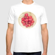 Cherries Mens Fitted Tee MEDIUM White